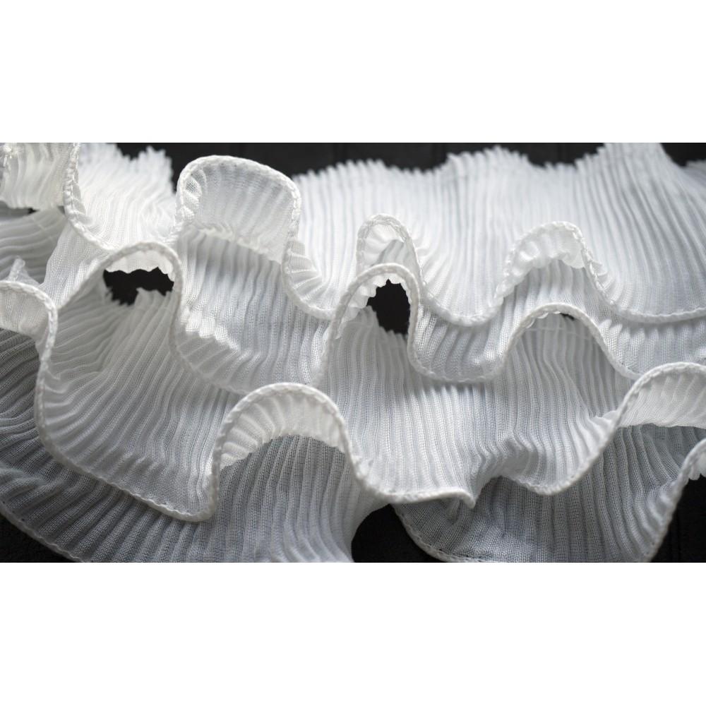 Aksamitka brokatowa opalizująca jasna tasiemka TA40277 10mm długość 30 yrd