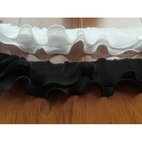 Aksamitka tasiemka brokatowa złota TA40277 10mm długość 30 yrd